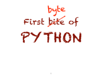 first bytes of Python